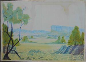 KEVIN WIRRI AUSTRALIAN ABORIGINAL ARTIST ORIGINAL WATERCOLOUR . HERMANNSBURG..
