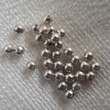 40 silver plated ball beads 3mm, great spacers with loads of uses!