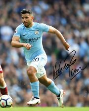 SERGIO AGUERO #2 - MANCHESTER CITY 10x8 PRE PRINTED LAB QUALITY PHOTO - Free Del