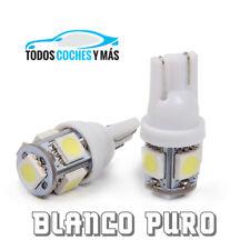 2 X BOMBILLAS LED COCHE T10 5 SMD 5050 W5W INTERIOR POSICIÓN BLANCO PURO