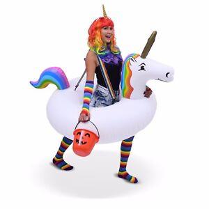 Giant Inflatable Unicorn with Rainbow Suspenders! UNIQUE COSTUME