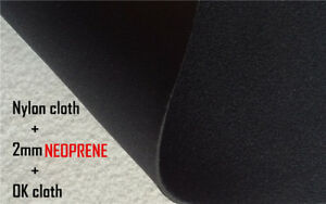 Neoprene fabric ok cloth loop velvet + nylon fabric laminated black velcrability