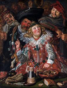 Frans Hals - Merrymakers at Shrovetide, Museum Art Poster, Canvas Print