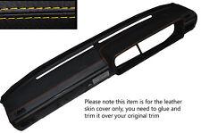 Amarillo Stitch Dash Dashboard Leather Skin Tapa se ajusta Vw Scirocco Mk1 74-80