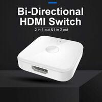Bidirektionale 4K HD 3D 3D-Effekte HDMI-Switch-Splitter für DTS Dolby-tureHD XY