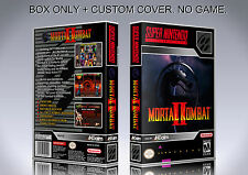 MORTAL KOMBAT 2. NTSC VERSION. Box/Case. Super Nintendo. BOX + COVER. (NO GAME)