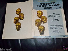 THE BEATLES  TWENTY EASY PLAY HITS  MUSIC BOOK 46 PAGES GRAND ! GOLDEN BEATLES 4