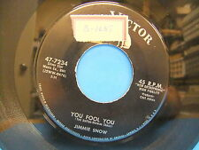 Jimmie Snow (Jimmie Rodgers Snow) Rules Of Love / You Fool You 1958 45 RCA 7234