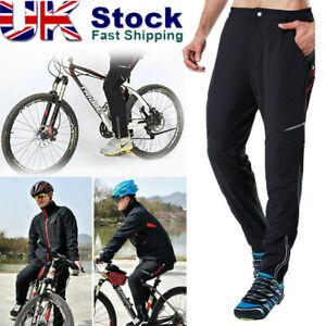 Men's Waterproof Cycling Pants Mountain Bike Riding Running Sports Windproof UK