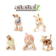 Sheep-Cow-Donkey-Goat-Pig All Natural Anamalz Toy Farm Animals 5PC New
