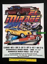 El Mirage 2001 Dry Lake Bed Poster SCTA Pickup Motorcycle Speedster Bonneville