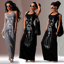 Women Maxi Dress Sleeveless Party Summer Holiday Beach Casual Long Skirt Dresses