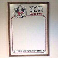 """Vintage Samuel Adams Boston Lager White Board """"Voted Americas Best Beer"""""""