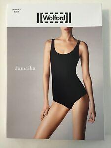 "New Wolford Large White ""Jamaika Body"" - Stretch Jersey Tank Leotard Bodysuit"