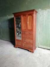 More details for rare victorian c.1860 mahogany compactum wardrobe by robert garnett and sons war