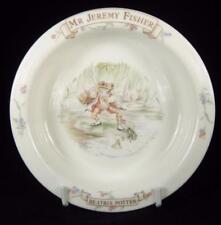 Royal Albert Beatrix Potter's Mr. Jeremy Fisher Bone China Baby Bowl 1986