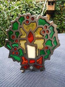 Vintage Stained Glass Candle Design Tea Light Holder