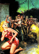 "Vintage Pin Up Pulp Cover illustration 11 x 14""  Photo Print"