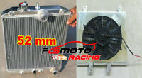 Radiator + Shroud Fan For Honda CIVIC EG EK B16 B18 D15 D16 1992-2000 28mm Inlet