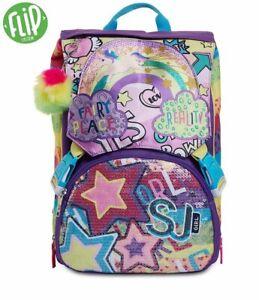 ZAINO ESTENSIBILE BIG Sj MULTICOLOR GIRL Novità scuola Seven junior backpack