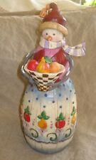 Jim Shore Heartwood Creek 2003 Winter's Bounty Snow Lady Snowman Christmas