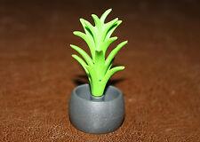 Playmobil végétation décor plante verte en pot gris ref bb
