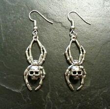 Skull Spider Earrings Set Pendant Charm Gothic Macabre Horror Gift Present