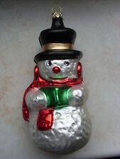 Weihnachtsschmuck Lauscha Glas Handmalerei Schneemann Glasbläserei
