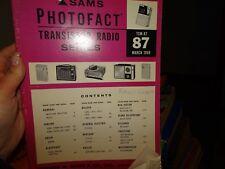 Sams Photofact- Transistor Radio Series  TSM-87