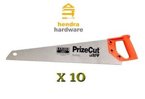 """Hand Saw 22"""" / 550mm x 10 Pieces BAHCO PrizeCut for Timber Wood"""