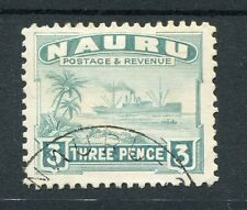 Nauru KGVI 1937-48 3d greenish-grey SG31B ex-album used