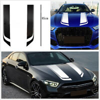 Car White Racing Sports Hood Stripes Sticker Eyebrow Decor Scratches Modified