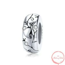 Charm Pendant W.F.Pandora Flowers Tendril Spacer 925 Sterling Silver