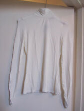 Jane Norman Stretchy Thin Cream Turtle Neck Long Sleeve Top in Size 12 - NWT