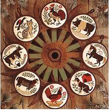 Barnyard Christmas Ornaments Prairie Schooler Cross Stitch Pattern Book 94