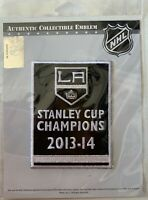 LOS ANGELES LA KINGS PATCH STANLEY CUP CHAMPIONS 2013-2014 PUCK STYLE JERSEY