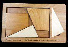 Cruiser - 4 pc wood brain teaser puzzle SIZE LARGE - design by Stewart Coffin