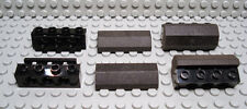 LEGO Set of 4 NEW Technic 1x4 Brick Bumper Holders and 2x4 Rubber Bumpers BLACK