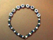 NFL Seattle Seahawks beaded bracelet