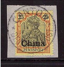 Deutsche Post in China, Mi-Nr. 19 II, gestempelt, Plattenfehler, geprüft (20441)