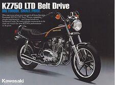 1982 KAWASAKI KZ750 LTD two sided vintage motorcycle ad sheet