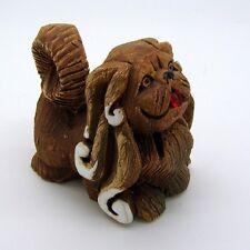 Pekingese Dog Artesania Rinconada Collectible Figurine Uruguay 1978 Glass Tongue