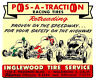 POS-A-TRACTION RACING TIRES INGLEWOOD TIRE DRAG RACE HOT ROD DECAL STICKER