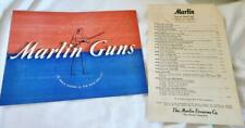 Vintage Marlin 1941 Firearms Company Gun Catalog and Original Price List