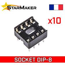10x Support DIP8 socket circuit intégré DIP / DIL 8 broches