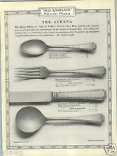 1923 PAPER AD 1835 R Wallace Silverware The Athena Design Pattern