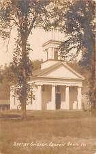 CANTON, CT ~ BAPTIST CHURCH ~ EASTERN ILLUS., PUB. ~ REAL PHOTO PC ~ c. 1910s