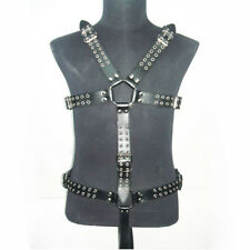 High Quality Leather Men's Body Harness Restraint Adjustable Straps Underwear