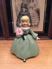 1956 Holland O Mold Figurines Porcelain Blonde Girl with flowers Rare 7 Inches