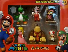 SUPER MARIO BROS PERSONAGGI SET Principessa Peach Yoshi ASINELLO Kong Diddy